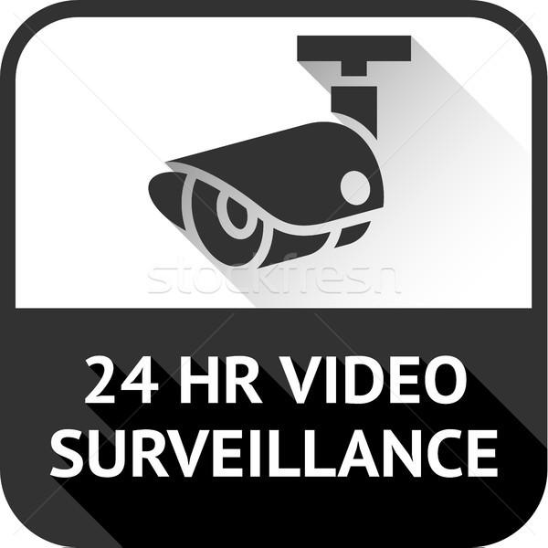 видео наблюдение черный квадратный аннотация знак Сток-фото © Ecelop