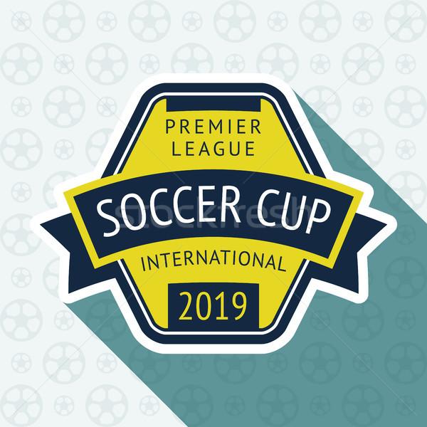 Calcio Cup badge 10 eps blu Foto d'archivio © Ecelop