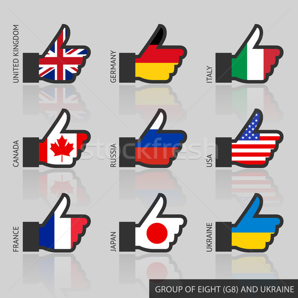 Set of G8 flags, like Stock photo © Ecelop