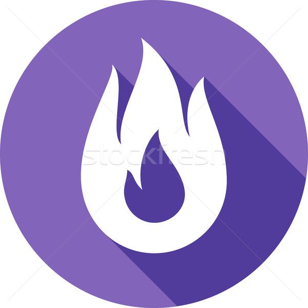 Fuego hoguera llama círculo forma poder Foto stock © Ecelop