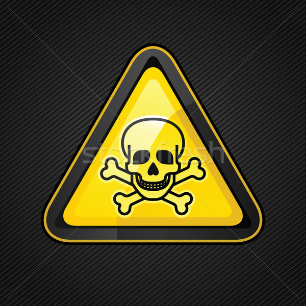 Hazard warning triangle toxic sign on Stock photo © Ecelop