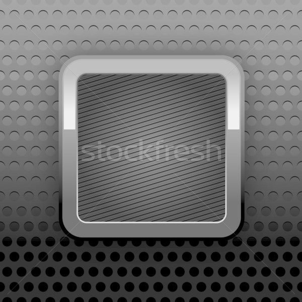 Metal web button. Background perforation texture Stock photo © Ecelop