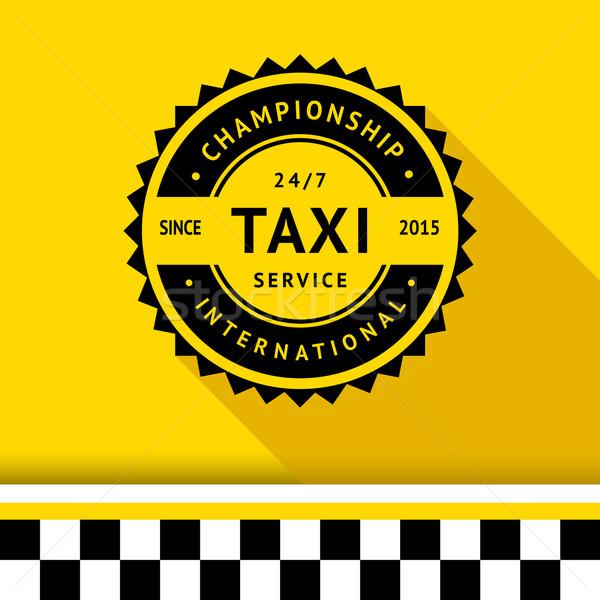 Taksi rozet 10 gölge iş yol Stok fotoğraf © Ecelop