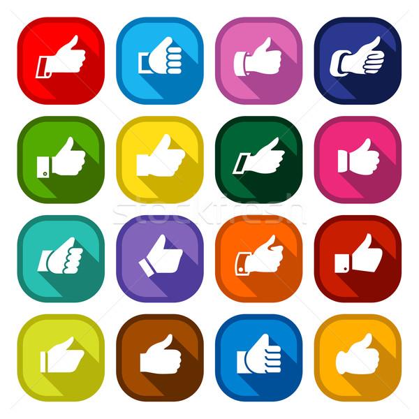 Establecer botones iconos manos Foto stock © Ecelop