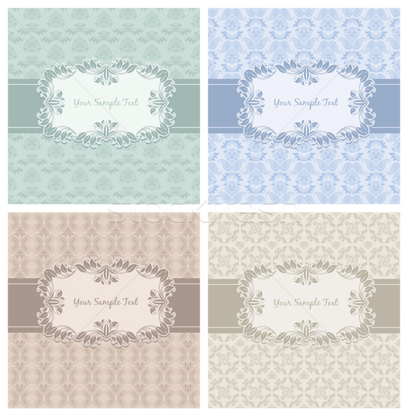 Decorative Pattern and Frame template set first Stock photo © Ecelop