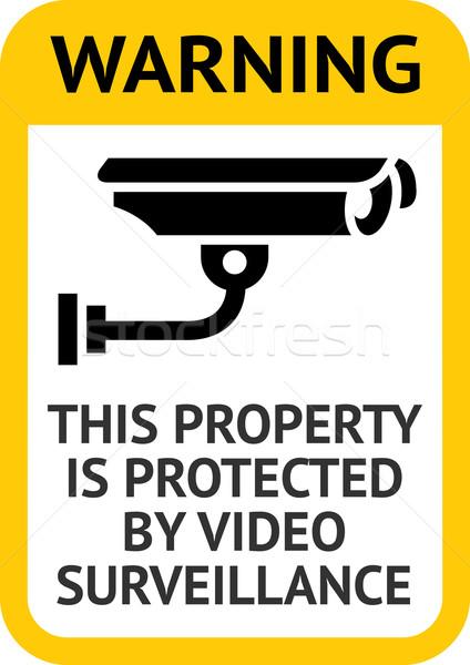 Vídeo observação etiqueta abstrato filme Foto stock © Ecelop