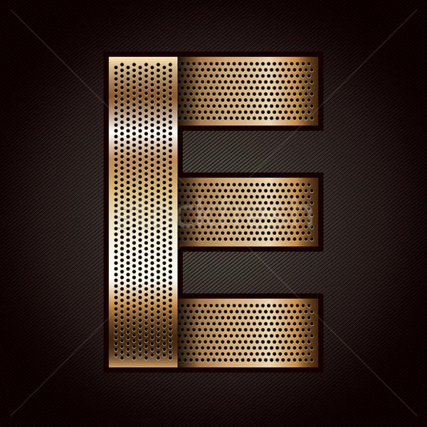 Lettre métal or ruban vecteur texture Photo stock © Ecelop