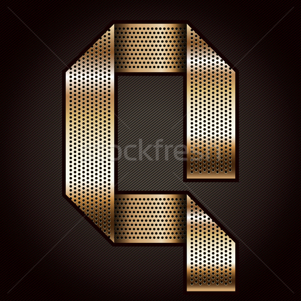 Letter metal gold ribbon - Q Stock photo © Ecelop