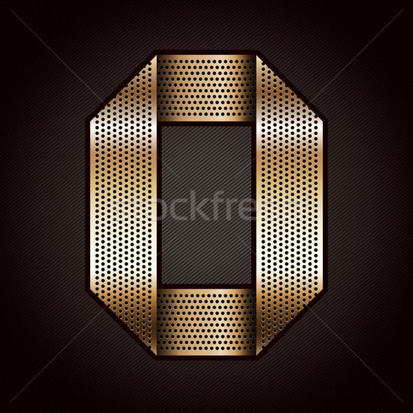 番号 金属 金 リボン ゼロ ベクトル ストックフォト © Ecelop