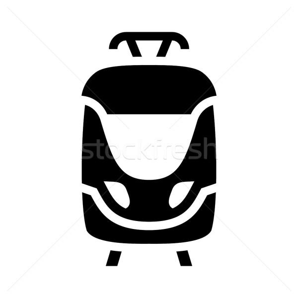 Black icon isolated on white background, flat style Stock photo © Ecelop