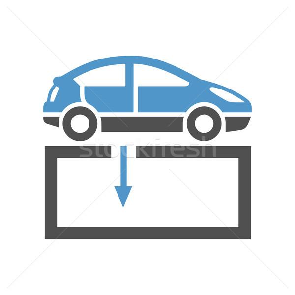 автомобилей службе икона ремонта магазин серый Сток-фото © Ecelop