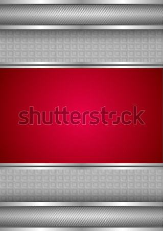 Sablon fémes textúra piros vektor keret Stock fotó © Ecelop