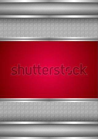 Vorlage metallic Textur rot Vektor Rahmen Stock foto © Ecelop