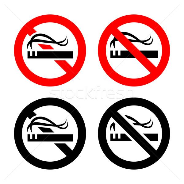 No smoking signs set Stock photo © Ecelop