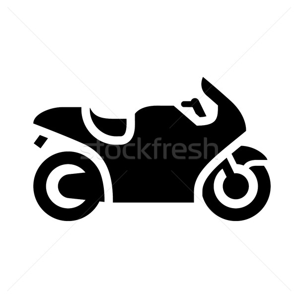 Vervoer weg zwarte icon geïsoleerd witte Stockfoto © Ecelop