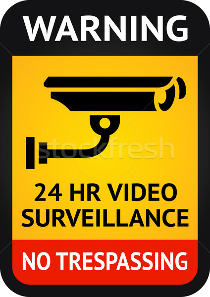 Video surveillance symbol Stock photo © Ecelop