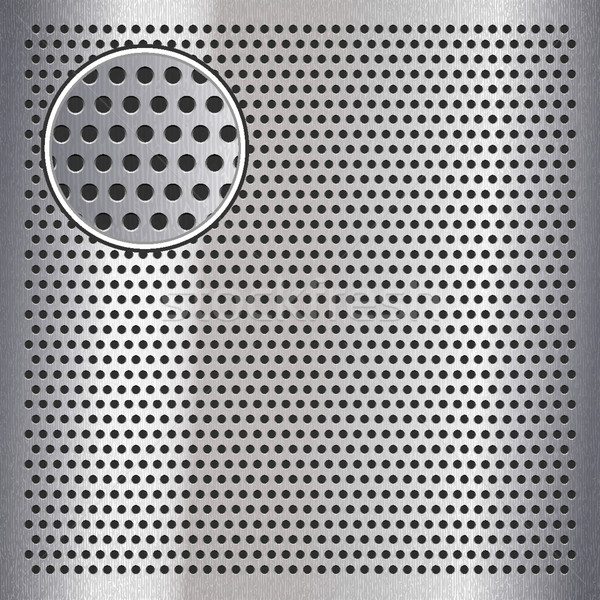 Chrome metal sheet surface with holes, 10eps Stock photo © Ecelop