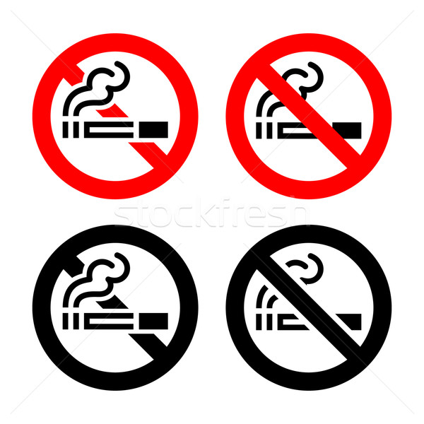 Signs set - No smoking Stock photo © Ecelop