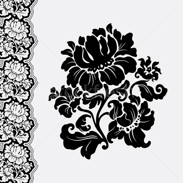 flower and border lace Stock photo © Ecelop