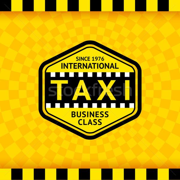 Taxi szimbólum kockás 22 üzlet út Stock fotó © Ecelop