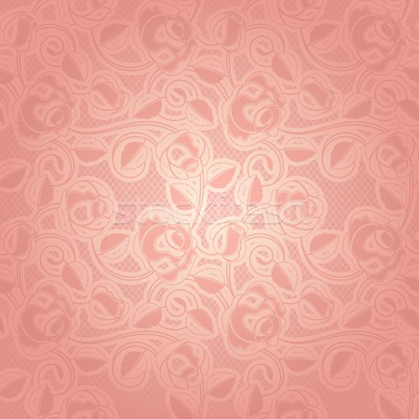 Pizzo ornamento può usato inviti sfondo Foto d'archivio © Ecelop