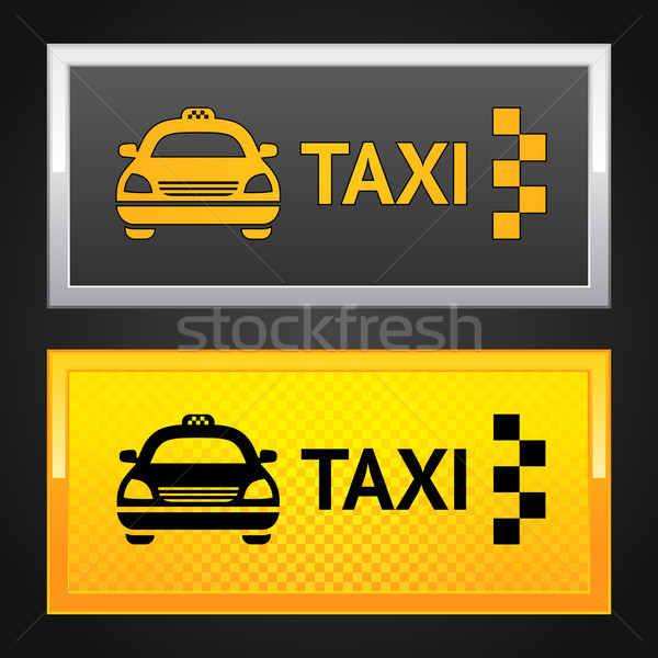Taxi taxi ingesteld label weg achtergrond Stockfoto © Ecelop