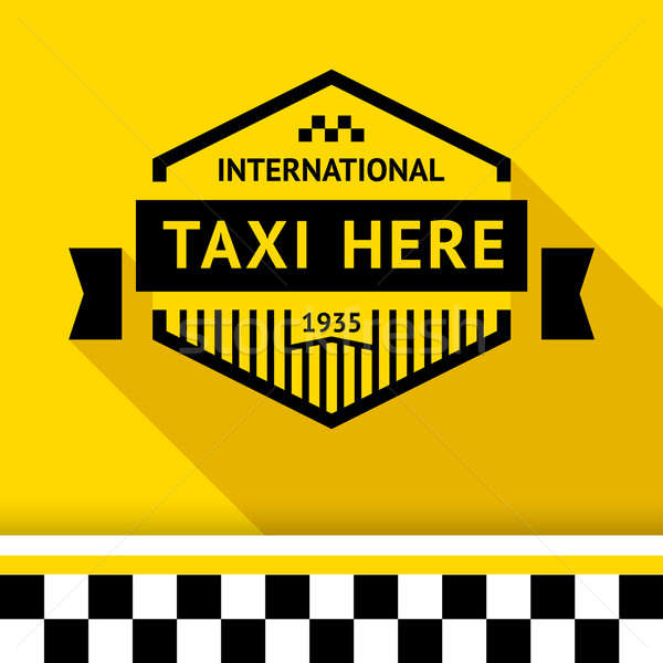 Taksi rozet 14 gölge iş yol Stok fotoğraf © Ecelop