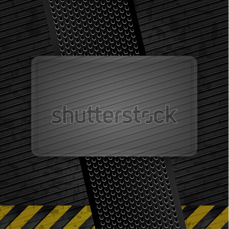 Metallic grunge template, iron sheet Stock photo © Ecelop