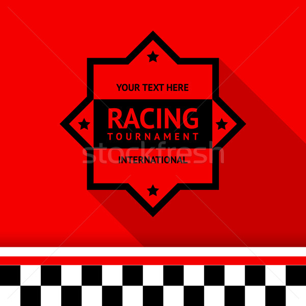 Racing stamp-04 Stock photo © Ecelop