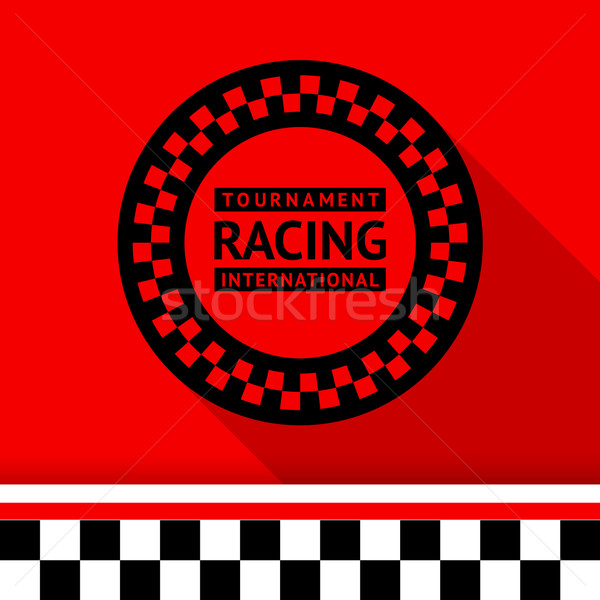 Racing stamp-03 Stock photo © Ecelop