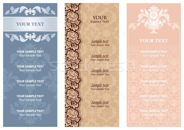 Stockfoto: Bloemen · menu · textuur · achtergrond · bladeren