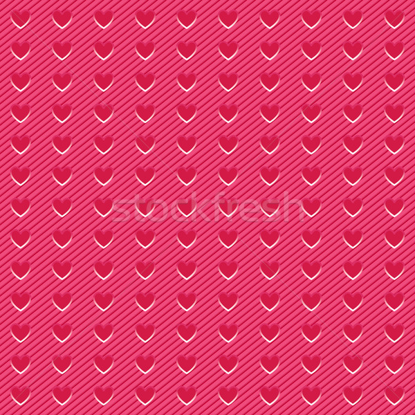 Background perforated in shape pink heart, corduroy texture Stock photo © Ecelop