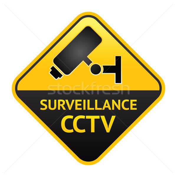кабельное телевидение знак видео наблюдение Label вектора Сток-фото © Ecelop