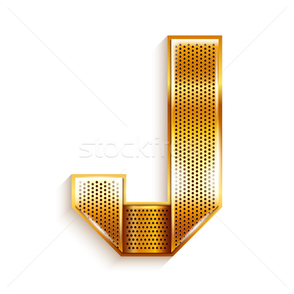 Letter metal gold ribbon - J Stock photo © Ecelop