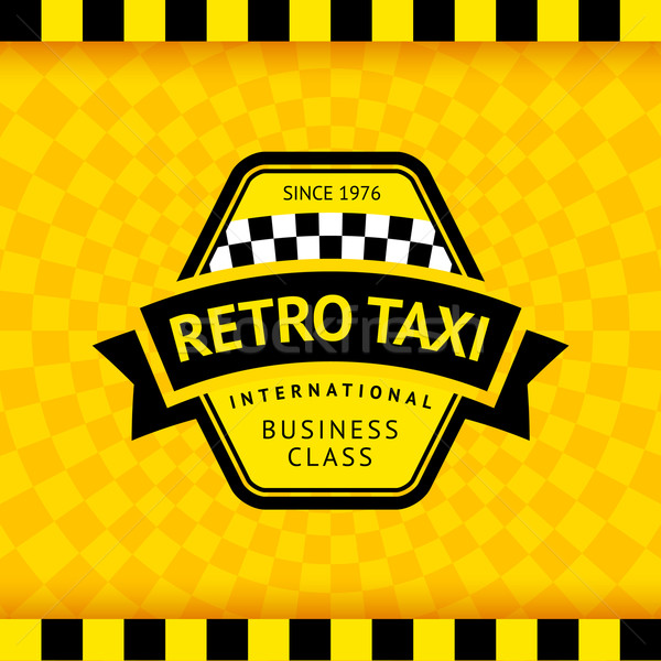Taxi símbolo 17 negocios carretera Foto stock © Ecelop