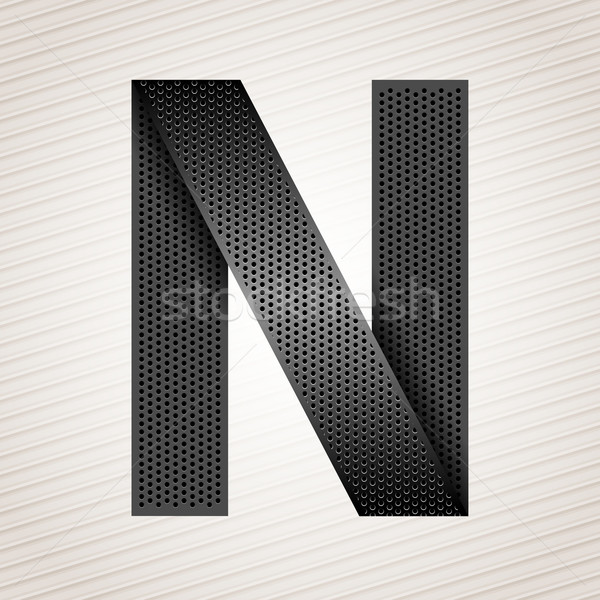 Letter metal ribbon - N Stock photo © Ecelop