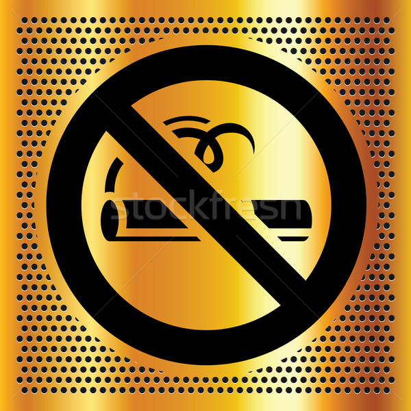 No smoking symbol on a bronze background Stock photo © Ecelop