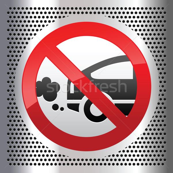 Agotar símbolo metálico acero inoxidable hoja placa Foto stock © Ecelop