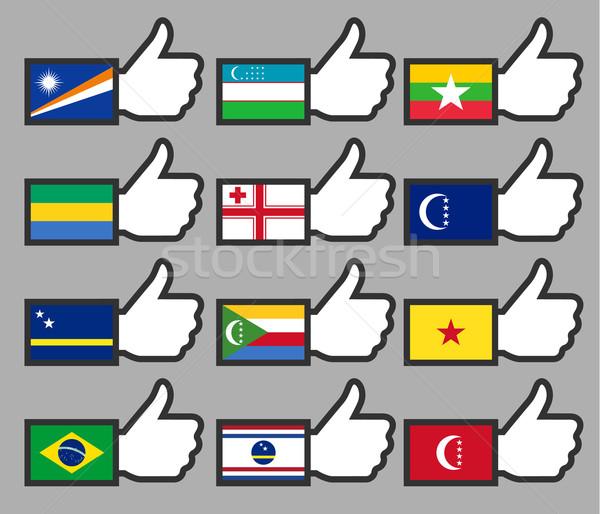 флагами фон знак путешествия стране Сток-фото © Ecelop