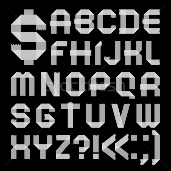 Font from scotch tape -  Roman alphabet Stock photo © Ecelop