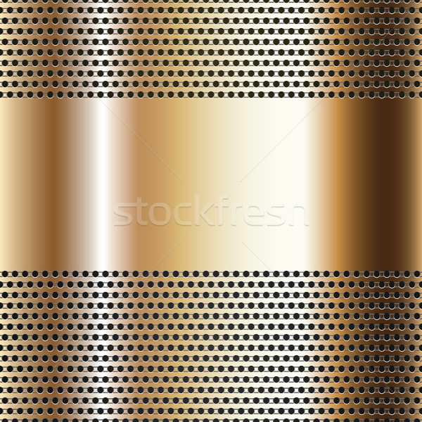 Golden background perforated sheet Stock photo © Ecelop