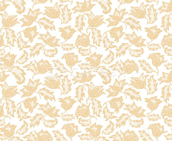 Stockfoto: Naadloos · bloemen · patroon · behang · vector · mode