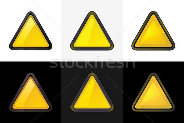 Triangle web 20 bouton Photo stock © Ecelop