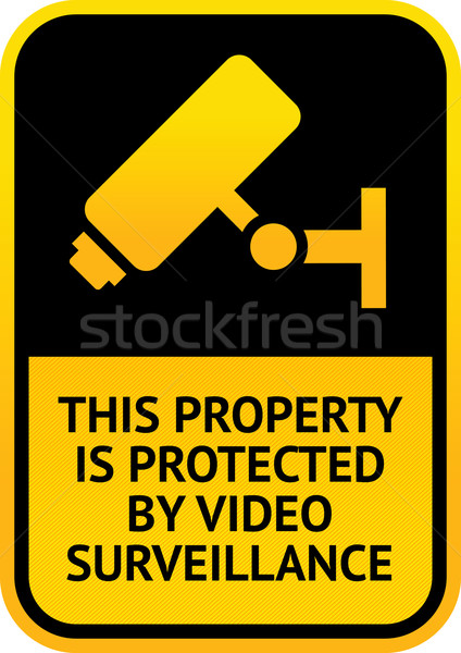 Video surveillance sticker Stock photo © Ecelop