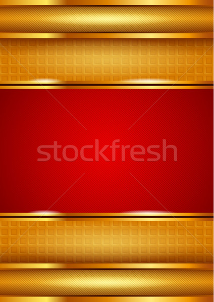 Stock photo: Background template, red