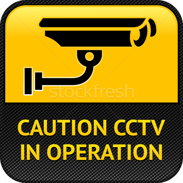 CCTV symbol, pictogram security camera Stock photo © Ecelop