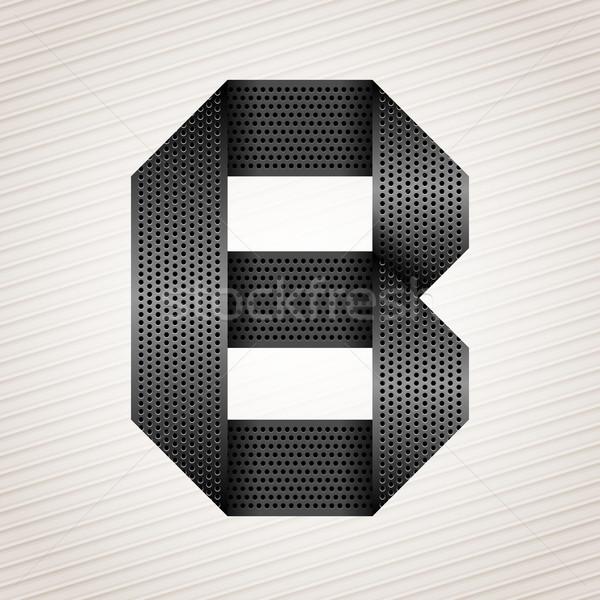 Letter metal ribbon - B Stock photo © Ecelop