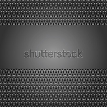 Stock photo: Dark gray background perforated sheet