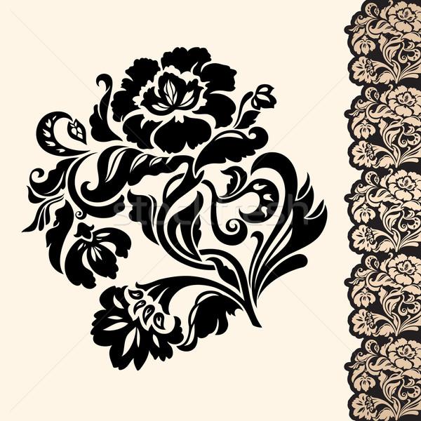 Fiore confine wedding silhouette impianto Foto d'archivio © Ecelop
