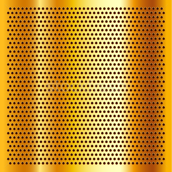 Golden perforated sheet Stock photo © Ecelop